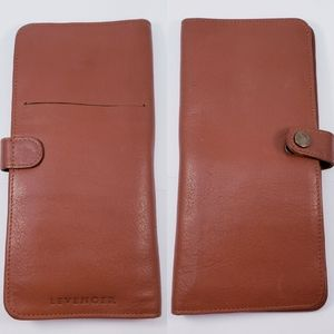 Levenger VNTG Lg Leather Wallet Orgnizer Passport